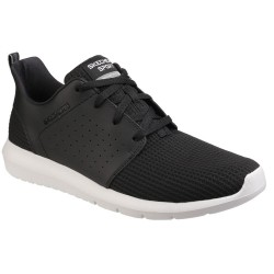 Skechers Foreflex Mens Black-White Trainer