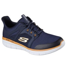 Skechers Synergy 2.0 Chekwa Mens Navy-Orange Trainer
