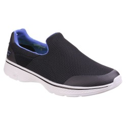 Skechers Go Walk 4 Incredible Mens Black-Blue Trainer