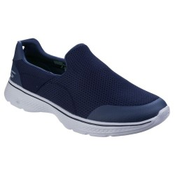 Skechers Go Walk 4 Incredible Mens Navy-Grey Trainer