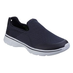 Skechers Go Walk 4 Expert Mens Black-Grey Trainer