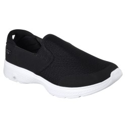 Skechers GOwalk 4 Contain Mens Black-White Trainer