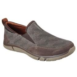 Skechers Edmen Bronte Mens Brown Shoe