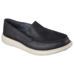 Skechers Status Breson Mens Black Shoe