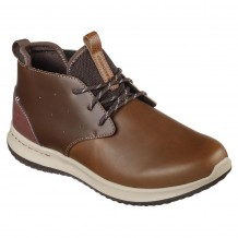 Skechers Delson Clenton Mens Brown Shoe