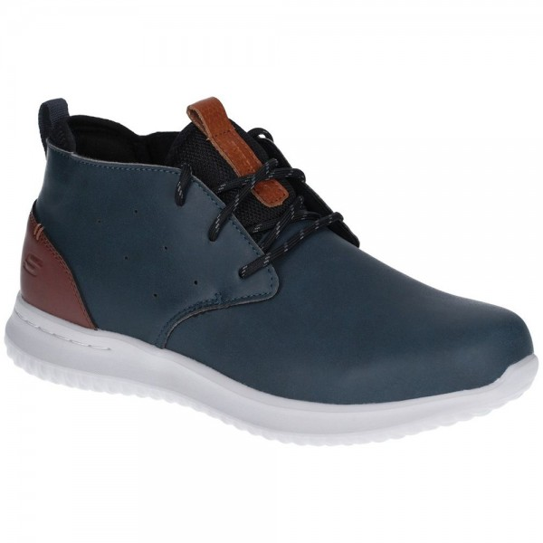 Skechers Delson Clenton Mens Navy-White Shoe