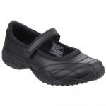 Skechers Velocity Pouty Girls Black School Shoe