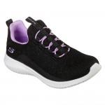 Skechers Ultra Flex Black-Lavender Trainer