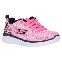 Skechers Synergy 2.0 High Spirits Girls Neon Pink-Black Trainer