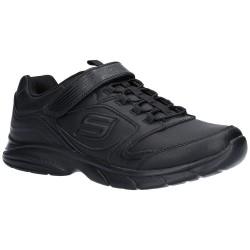 Skechers Spirit Sprintz Girls Black School Shoe