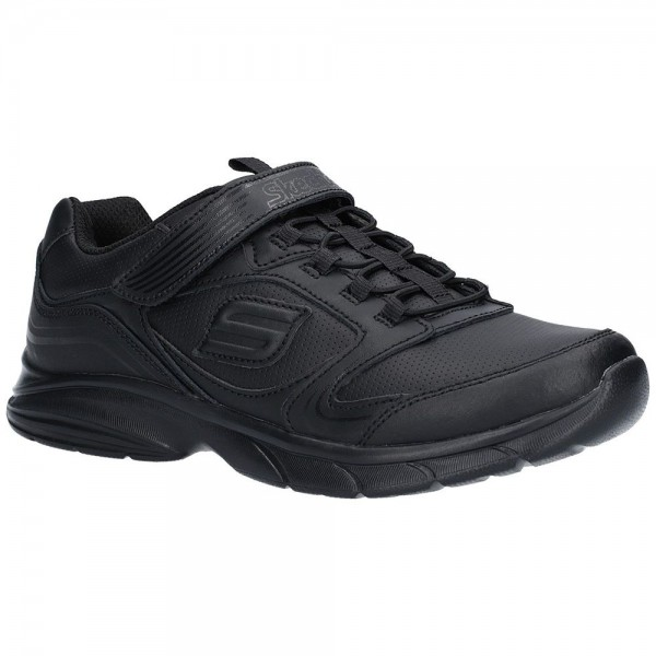 Skechers Spirit Sprintz Boys Black School Shoe