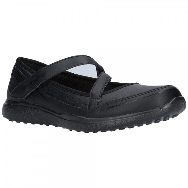 Skechers Microburst Scholar Spirit Girls Black School Shoe