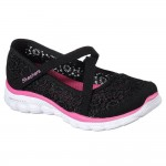 Skechers Skech Flex 2.0 Comfy Crochetes Girls Black-Hot Pink Shoe