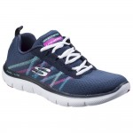 Skechers Flex Appeal 2.0 Act Cool Womens Navy-Multi Trainer