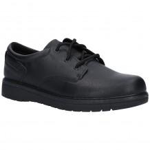 Skechers Gravlen City Zone Boys Black School Shoe