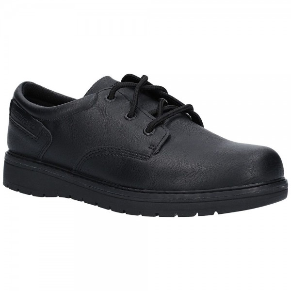 Skechers Gravlen City Zone Boys Black School Shoe