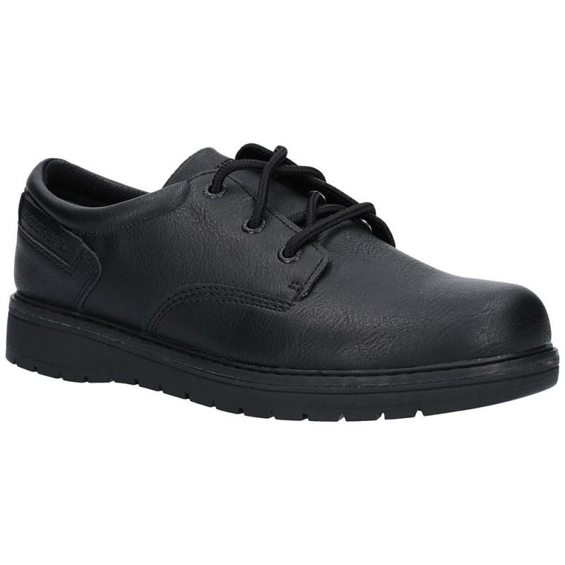 Skechers Gravlen City Zone Boys Black School Shoe Ogam Igam