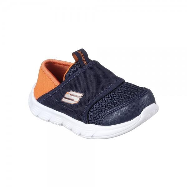 Skechers Comfy Flex Navy-Orange Trainer