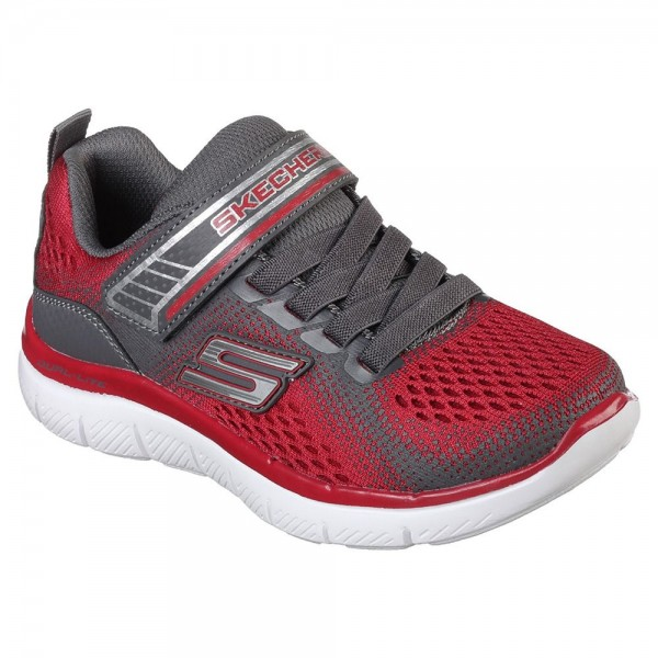 Skechers Flex Advantage 2.0 Boys Red-Charcoal Trainer