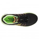 Skechers Skech-Flex 2.0 Quick Pick Boys Black-Lime Trainer