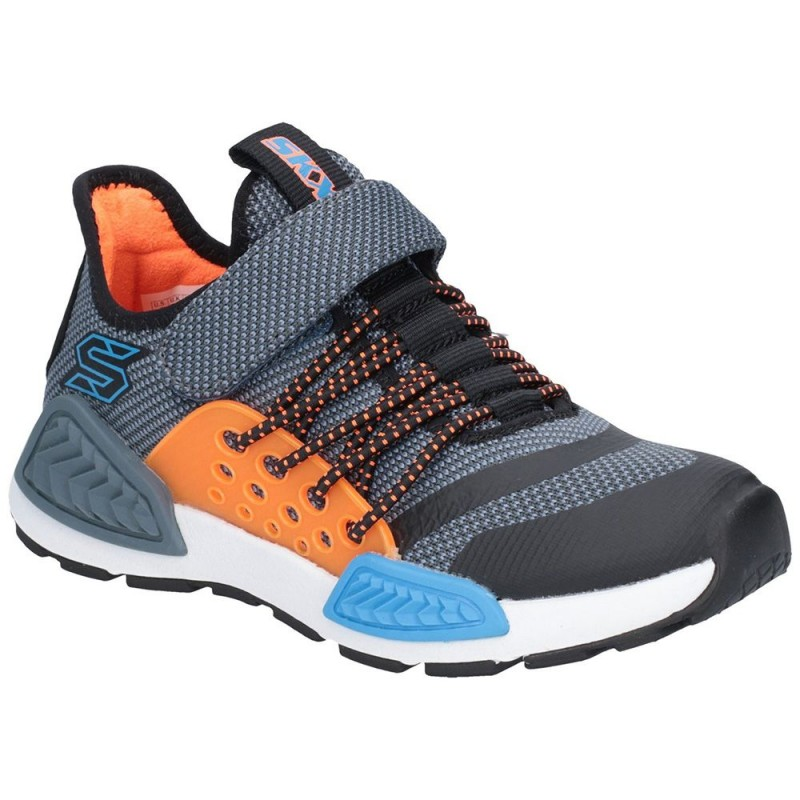 Skechers Kinectors Thermovolt Boys Blue-Grey Trainer  dfb898cad9