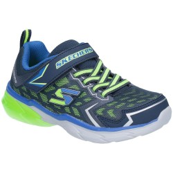 Skechers ThermoFlux Nano Grid Boys Navy-Lime Trainer