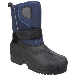 Cotswold Avalanche Girls Boys Navy Water-resistant Snow Boot