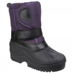Cotswold Avalanche Girls Boys Purple Water-resistant Snow Boot
