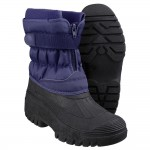 Cotswold Chase Womens Navy Waterproof Snow Boot