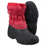 Cotswold Chase Womens Red Waterproof Snow Boot