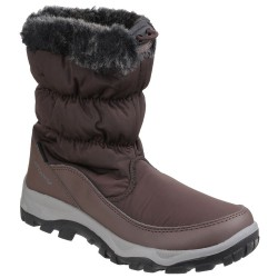 Cotswold Frost Womens Brown Waterproof Pull On Snow Boot