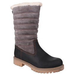 Cotswold Ripple Womens Black-Grey Waterproof Boot