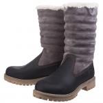 Cotswold Ripple Womens Black-Grey Waterproof Boot
