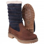 Cotswold Ripple Womens Brown-Blue Waterproof Boot