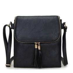 Long and Son 16631 Womens Black Crossbody Bag