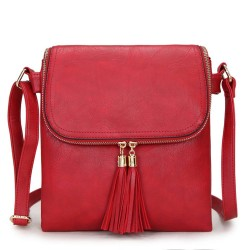 Long and Son 16631 Womens Red Crossbody Bag