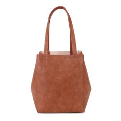 Long and Son 67763 Womens Brown Tote Triple Bag