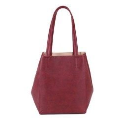 Long and Son 67763 Womens Red Tote Bag in Bag
