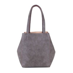 Long and Son 67763 Womens Grey Tote Triple Bag