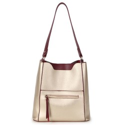 Long and Son 8423 Womens Gold Tote Bag in a Bag