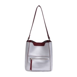 Long and Son 8423 Womens Silver Tote Bag in a Bag