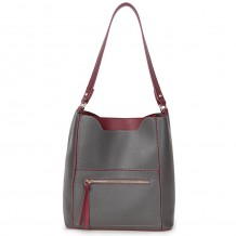 Long and Son 8423 Womens Dark Grey Tote Bag in a Bag