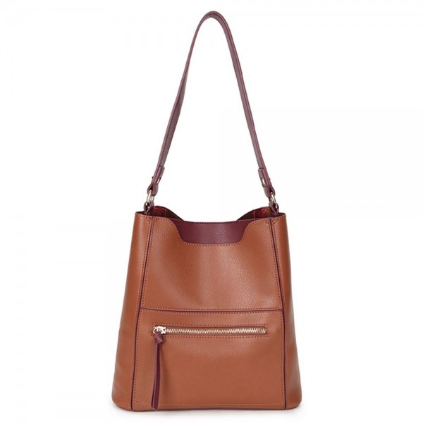 Long and Son 8423 Womens Brown Shoulder Bag