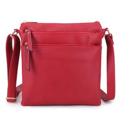 Long and Son 1638 Womens Red Crossbody Bag