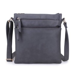 Long and Son A1638 Womens Grey Crossbody Bag