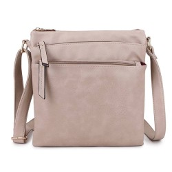 Long and Son 1638 Womens Beige Crossbody Bag