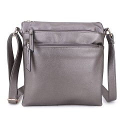 Long and Son 1638 Womens Silver Crossbody Bag