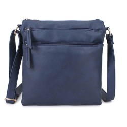 Long and Son A1638 Womens Blue Crossbody Bag