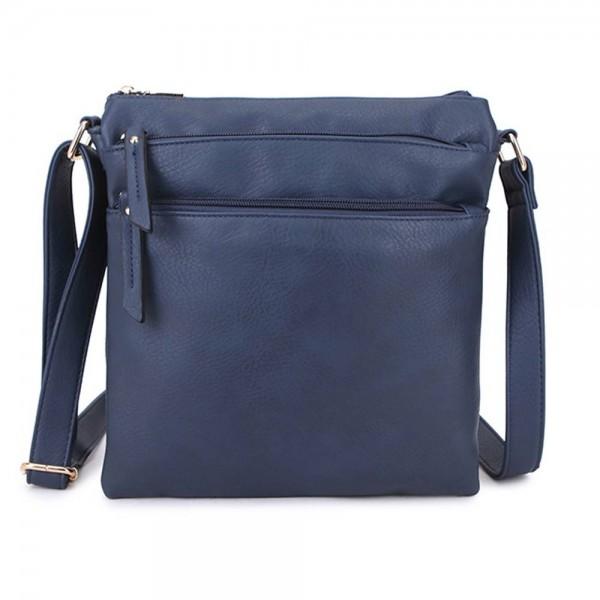 Long and Son A1638 Womens Blue Crossbody Bag