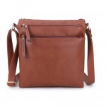 Long and Son A1638 Womens Brown Crossbody Bag